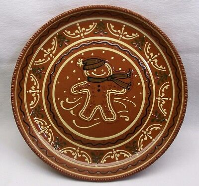"""Gingerbread Cookie Plate GREENFIELD LIBERTY CRAFTWORKS 11"""" #H192X11 Made in USA"""