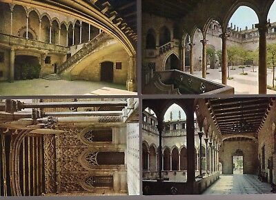 vintage lot 4 FISA edition Gold Shield PALACE Barcelona Spain postcards UNPOSTED