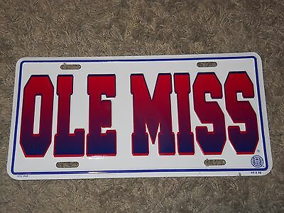 University Of Mississippi Ole Miss Go Rebels Car Truck Auto Tag License Plate