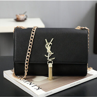 Women Fashion Large Tassels Shoulder Bag Leather Crossbody Handbag Ladies Bags
