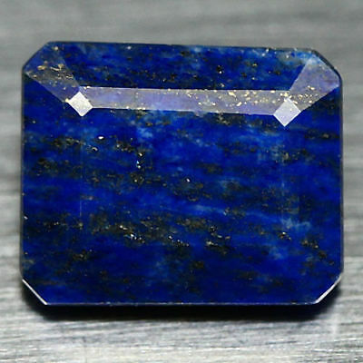 6.17 ct Natural Blue Afghanistan Lapis Lazuli  Octagon Cut Unheated