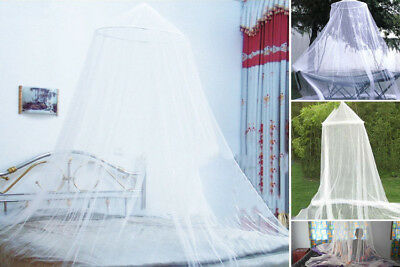 Double Single Queen Canopy Bed Curtain Dome Stopping Mosquito Net Midges Durable