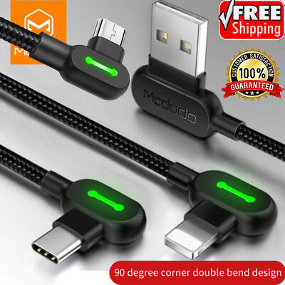 Mcdodo Lightning Bolt Micro USB Type C Smart Sync Charging Cable iPhone Android