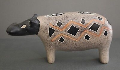 Soap Stone Hippo Figurine African Safari Paperweight Hand Carved in Kenya