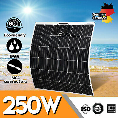 12V 250W Flexible Solar Panel 250 Watt Mono Caravan Camping Home Battery Charge