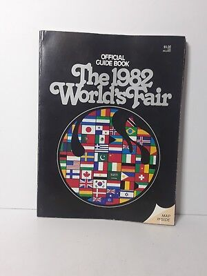 VTG The 1982 World's Fair Official Guide Book w/ Map Inside - Tennessee
