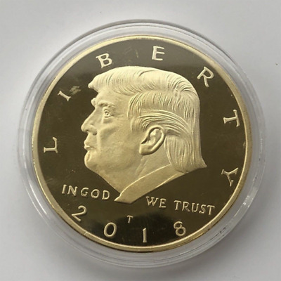 2018 President Donald Trump Gold EAGLE Commemorative Coin 38mm 45th President