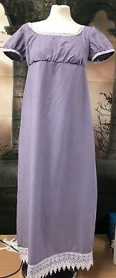 Regency Style In Lavender With Lace Trim