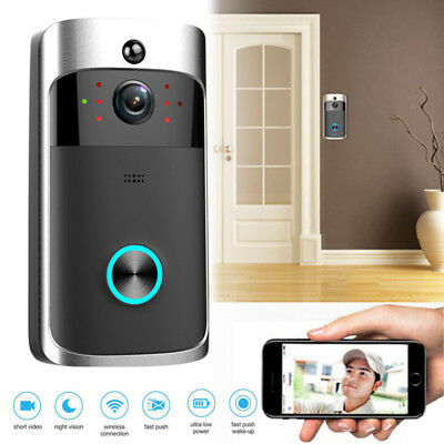 Smart Wireless WiFi Visual Doorbell Two-way Voice Intercom Night Vision Camera