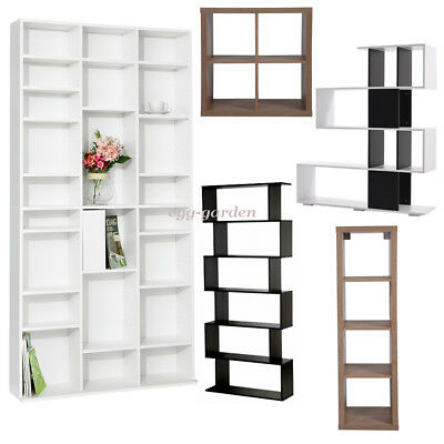 Wooden Cube / S Shape Bookcase Display Shelving Storage Unit Cabinet Furniture