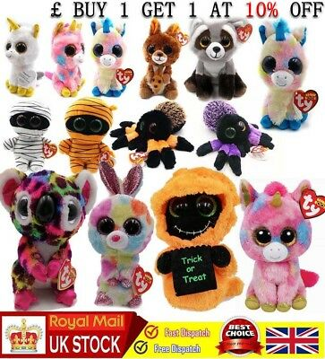 "Ty Beanie Boos 6"" Stuffed Plush Kids Toy Animal Stuffed Plush Doll XMAS Gift"
