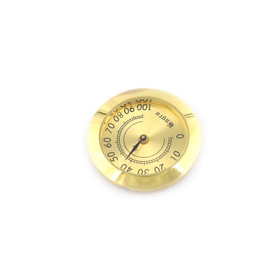 37mm Thermometer Cigar Hygrometer Monitor Meter Gauge Humidity Measuring Tools I