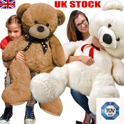 Large Teddy Bear Giant Teddy Bears Big Soft Plush Toy Kids 60/80/100cm Xmas Gift
