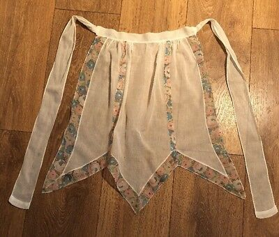 Very Pretty Art Deco Vintage 1920s 1930s Floral Tea Apron Piney