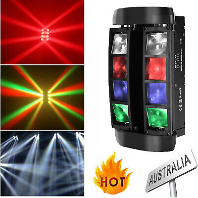 U`king RGBW Stage Light 80W 8 LEDs Spider Beam Effect Fixture DMX DJ Party Disco
