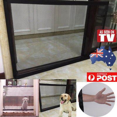 Pet Mesh Gate Magic Barrier Safe Guard Fence Net Safety Enclosure Dog Cat Puppy