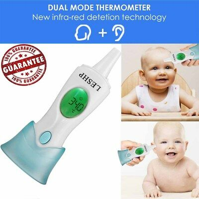 Electronic Digital Thermometer IR Infrared Ear Forehead Infant Adult Baby Kid AS
