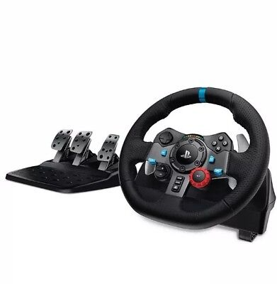 Logitech Driving Force G29 Racing Wheel & Pedals PS4/PS3 and PC UK-Plug BNIB