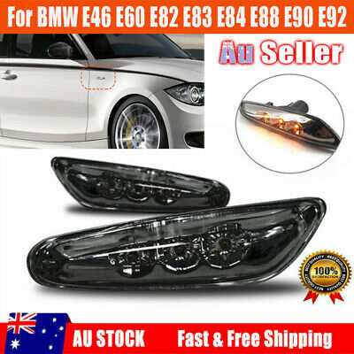 2X LED Side Marker Lights Turn Signals For BMW M E82 E88 E60 E61 E90 E91 E92 E93