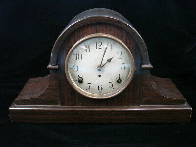Antique SETH THOMAS 8 Day HUMPBACK WOODEN MANTEL CLOCK 89 WITH BRASS MOVEMENT