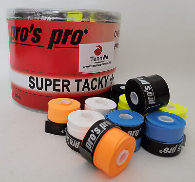 Empfehlung: 20er Pack Pros Pro Super Tacky Plus Griffband, bunt, Overgrip 0,5mm
