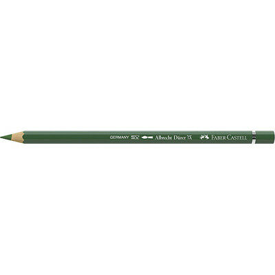 Faber-Castell - (Single) Durer Watercolour Pencil, Permanent Green Olive (167)