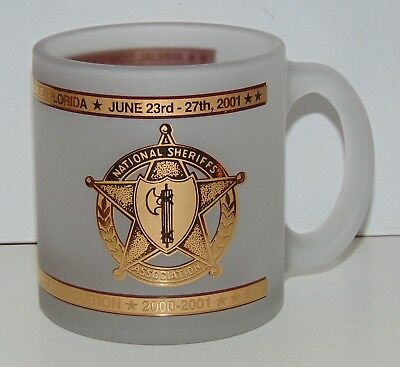 National Sheriffs Association Annual conference frosted coffee mug 2001