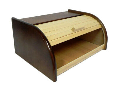 Wooden Bread Box Apollo Peewit Roll Top Bin Storage Loaf Kitchen Small Large Bread Bins Home, Furniture & Diy
