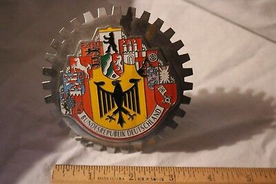 Bundesrepublik Deutschland Grille Badge License Plate Topper