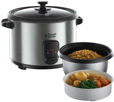 Russell Hobbs Rice Cooker Steamer Multi Cooker Stainless Steel 1.8L 10 Cups 700w