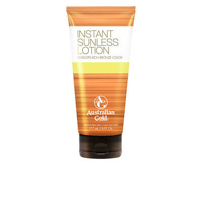 Cuerpo Australian Gold unisex SUNLESS INSTANT rich bronze color lotion 177 ml