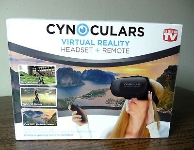 Hype CYNOCULARS Virtual Reality Headset + Remote Brand New