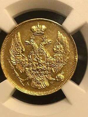 3rouble/20 zlots 1840 GOLD  RUSSIAN / POLAND (R1)