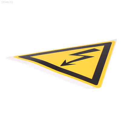 6BB5 78x78mm Electrical Shock Hazard Warning Stickers Safety Waterproof Decals