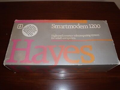 Vintage HAYES Smartmodem 1200 External Modem With Original Box & Manuals