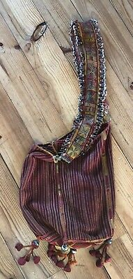 Superb Antique/vintage Beaded And Embroidered Tribal Bag From India