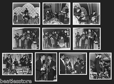Beatles 1961 / 1962, 10 rare real concert photos Tour John Lennon Paul McCartney