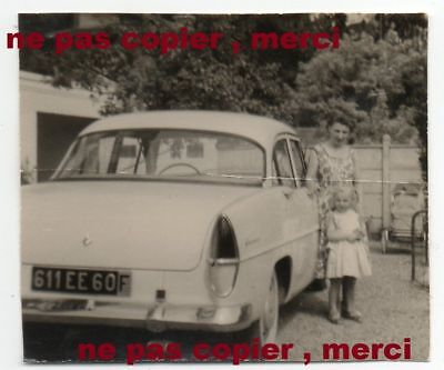 a photo vintage with a car auto car SIMCA ARIANE with robri exhaust