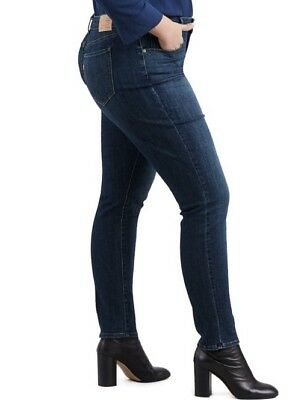 Levis Woman Plus Size 16W M 711 Skinny Jeans Stretch Denim Vintage Soft NWT $55