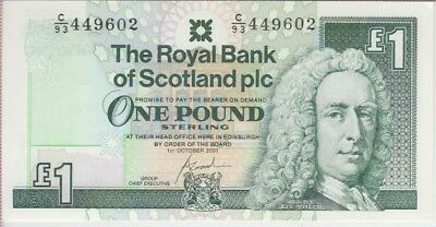 Scotland Banknote P351e 1 Pound, Royal Bank of Scotland  2001, UNC