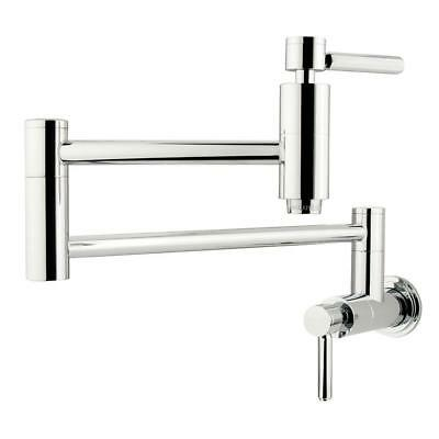 Kingston Brass KS8101DL Wall-Mounted Concord Pot Filler , Polished Chrome