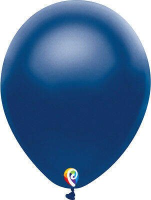 "72 Satin Navy Blue 12"" Latex Balloons Helium Quality Party Mate USA Fun Birthday"