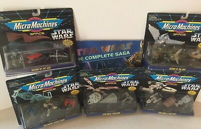 STAR WARS MICRO MACHINES VEHICLES FROM THE ORIGINAL STAR WARS TRILOGY Lot of 5
