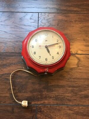 General Electric Vintage Antique Small Wall Clock 1950s