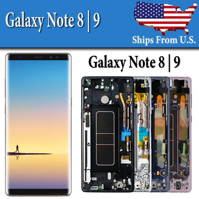 OEM Samsung Note 8 LCD Replacement Screen Digitizer With Frame Excellent