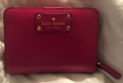 BRAND NEW! Kate Spade Hot Pink Hanna Wellesley Small Wallet NWOT