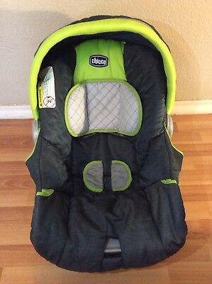 CHICCO Keyfit 30 Infant Car Seat Cushion Cover Canopy Straps Blue Green