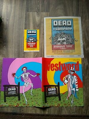 dead company poster,folsom field Boulder Co 2018, postcard,4 posters