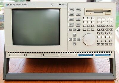 Philips/Fluke PM3585 200MHz Logic Analyser inc. software, probes and manuals