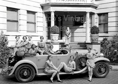 New York City College Flappers photo Classy Auto 1920's Jazz Prohibition